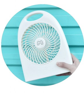 Portable strong wind fan