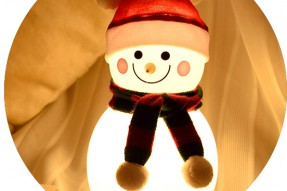 Snow LED baby light night with sound recording