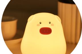 soft silicone led cute 7 color changing cartoon bear nursery babynight light