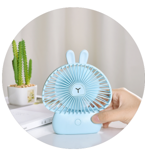 Rechargeable Mini Usb Mushroom Portable Fan