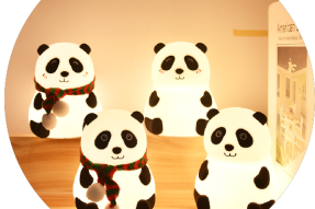 Panda Silicone Night Light(with scarf) (Rechargeable)