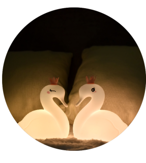 Bedroom BPA Free Swan Kids Silicon Night Lamp For Children