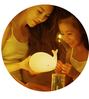 Kids Cute Lamp LED Rechargeable Silicone Baby Night Light Lamp